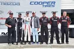 Second place André Negrao, Schmidt Peterson Motorsports, race winner Santiago Urrutia, Schmidt Peterson Motorsports