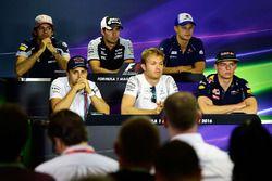 Press Conference: Carlos Sainz Jr., Scuderia Toro Rosso, Sergio Perez, Sahara Force India F1, Marcus