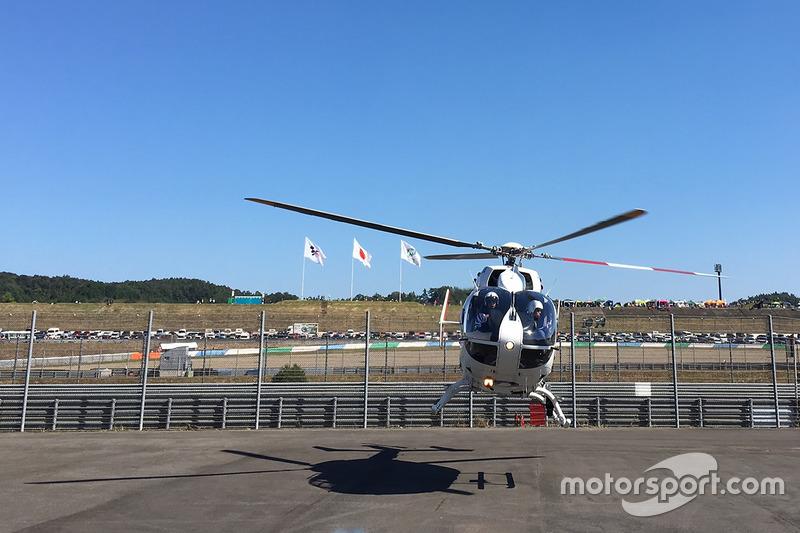 Jorge Lorenzo, Yamaha Factory Racing, airlifted after his crash