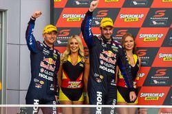 Podium: second place Shane van Gisberge, Alexander Premat, Triple Eight Race Engineering Holden
