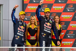 Podium: second place Shane van Gisberge, Alexander Premat, Triple Eight Race Engineering Holden