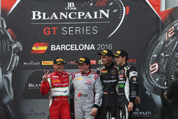 Podium: AM Cup winner Claudio Sdanewitsch, AF Corse, winner of the Sprint Championship Enzo Ide, Bel