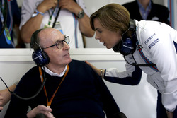 Sir Frank Williams, Williams Team Principal en Claire Williams, Williams Deputy Team Principal