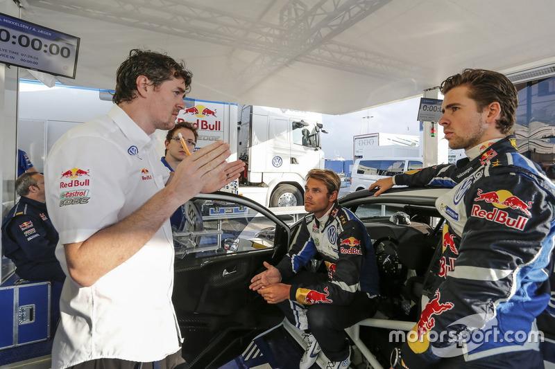 Richard Browne and Andreas Mikkelsen, Anders Jäger, Volkswagen Polo WRC, Volkswagen Motorsport