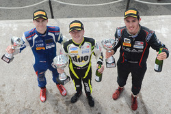 Winner Ricky Collard, Carlin, second place Thomas Randle, Douglas Motorsport, third place Colton Herta, Carlin