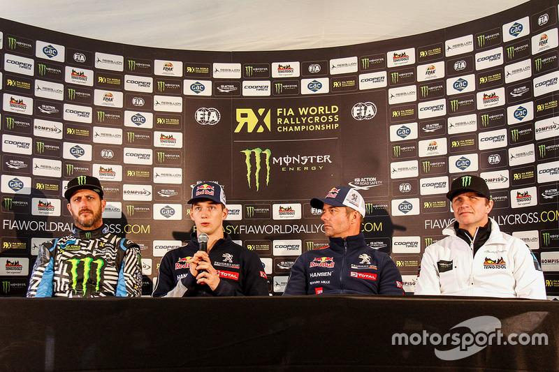 Ken Block, Hoonigan Racing Division Ford, Timmy Hansen, Team Peugeot Hansen, Sébastien Loeb, Team Peugeot Hansen, Petter Solberg, SDRX Citroën DS3 RX