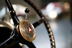 Mercedes vintage car steering wheel detail