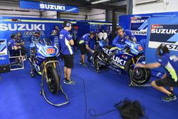 Suzuki MotoGP team area