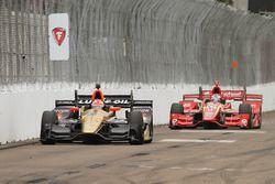 James Hinchcliffe, Schmidt Peterson Motorsports Honda, Scott Dixon, Chip Ganassi Racing Chevrolet