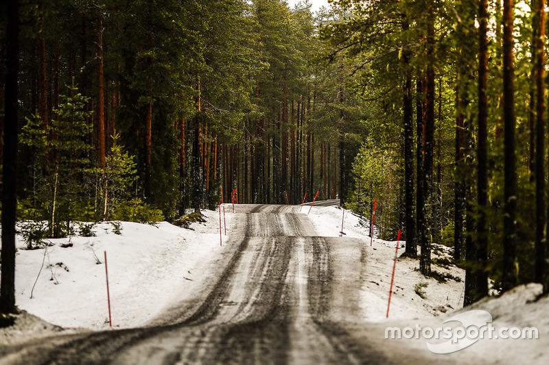 Une partie de la route du rallye