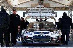 Kevin Harvick, Stewart-Haas Racing Chevrolet, bei der technischen Abnahme