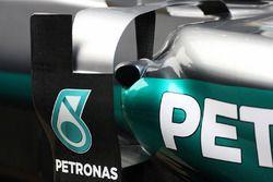Détails des pontons de la Mercedes AMG F1 W07
