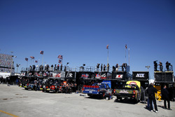 Nascar Trucks Garage area