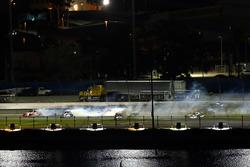 Tyler Reddick, Chip Ganassi Racing Chevrolet crash