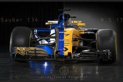 Sauber C6 vs Renaul RS17