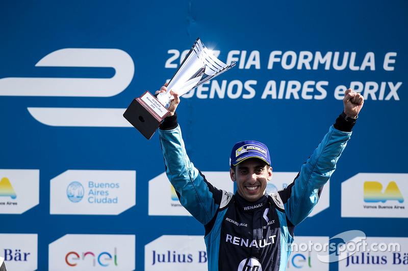 Podio: Ganador Sébastien Buemi, Renault e.Dams