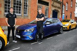 (L to R): Jolyon Palmer, Renault Sport F1 Team with team mate Nico Hulkenberg, Renault Sport F1 Team