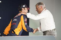 Dani Pedrosa, Repsol Honda Team, mit Giacomo Agostini