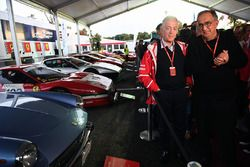 Sergio Marchionne, PDG FIAT et Piero Lardi Ferrari, vice-président Ferrari au 70e anniversaire de Ferrari