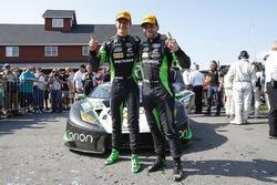 #16 Change Racing Lamborghini Huracan GT3: Corey Lewis, Jeroen Mul celebrate their first place finis