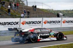 Nico Müller, Audi Sport Team Abt Sportsline, Audi RS 5 DTM after the crash with Timo Glock, BMW Team RMG, BMW M4 DTM