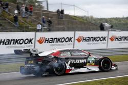 Nico Müller, Audi Sport Team Abt Sportsline, Audi RS 5 DTM nach dem Unfall mit Timo Glock, BMW Team