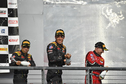 Podium: race winners Daniel Mancinelli, Niccolo Schiro, TR3 Racing, second place Johnny O'Connell, Ricky Taylor, Cadillac Racing, third place Jon Fogarty, Wolf Henzler, Gainsco/Bob Stallings Racing