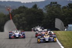 Takuma Sato, Andretti Autosport Honda, Alexander Rossi, Curb Herta - Andretti Autosport Honda, Carlos Munoz, A.J. Foyt Enterprises Chevrolet