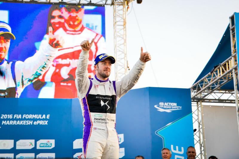 Podium : le second Sam Bird, DS Virgin Racing