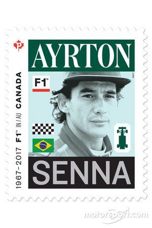Un timbre d'Ayrton Senna