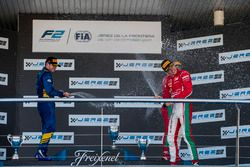 Oliver Rowland, DAMS, Charles Leclerc, PREMA Powerteam, Antonio Fuoco, PREMA Powerteam