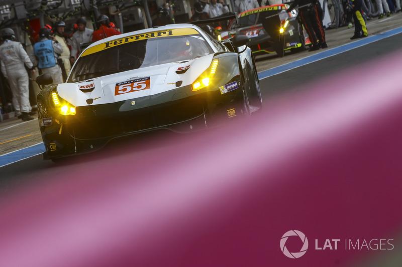 Второе место GTE Am: Spirit of Race Ferrari 488 GTE №55