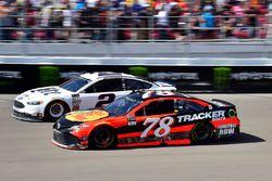 Martin Truex Jr., Furniture Row Racing Toyota, Brad Keselowski, Team Penske Ford
