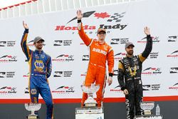 Podium: winner Josef Newgarden, Team Penske, second place Alexander Rossi, Herta - Andretti Autosport, third place James Hinchcliffe, Schmidt Peterson Motorsports