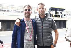 Ricky Wilson of the Kaiser Chiefs, Jenson Button, McLaren
