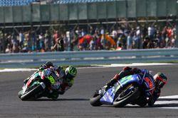 Маверик Виньялес, Yamaha Factory Racing, и Кэл Кратчлоу, Team LCR Honda