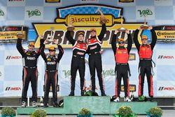 Podium: race winners Dillon Machavern, Dylan Murcott, RS1, second place Dean Martin, Jack Roush Jr.