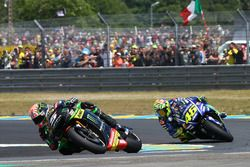 Johann Zarco, Monster Yamaha Tech 3; Valentino Rossi, Yamaha Factory Racing