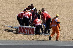 Liberación de la pista después de accidente, Nicolo Bulega, Sky Racing Team VR46