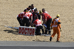 Track clearance after mass crash, Nicolo Bulega, Sky Racing Team VR46