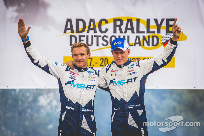 I vincitori del Rally Ott Tänak, Martin Järveoja, Ford Fiesta WRC, M-Sport