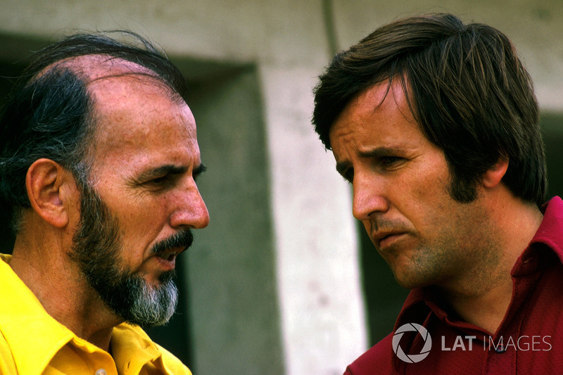 Don Nichols, dueño de Shadow Team con Heinz Hofer Team manager de Team Penske