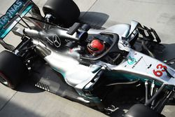 Джордж Расселл, Mercedes AMG F1 W08 с системой Halo