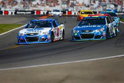 A.J. Allmendinger, JTG Daugherty Racing Chevrolet, Jimmie Johnson, Hendrick Motorsports Chevrolet