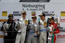 Podium: winner Lirim Zendeli, Mücke Motorsport, second place Kim-Luis Schramm, US Racing, third palce. Fabio Scherer, US Racing, best Rookie Enzo Fittipaldi, Prema Powerteam