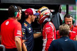 Ganador de la pole Charles Leclerc, PREMA Powerteam con Pierre Gasly