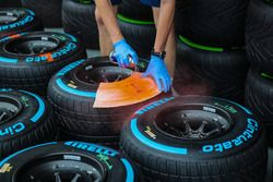 Pirelli tyres are marked