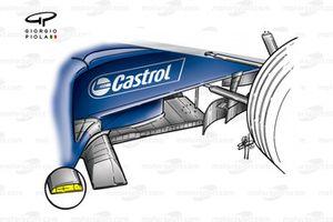 Williams FW23 2001 Brazil turning vanes