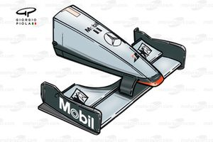 McLaren MP4-14 1999 Monza front wing and nose