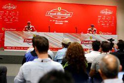 Press Conference: Sebastian Vettel, Ferrari and Kimi Raikkonen, Ferrari